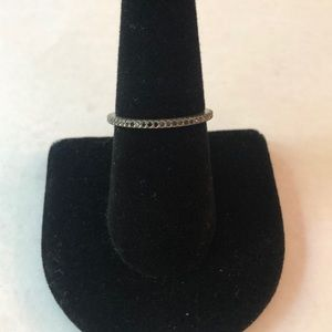 Silpada Black Stone Stack Ring Size 8 New